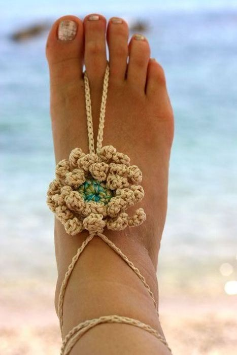 NEW Crochet Barefoot Sandals Nude shoes Foot by MarryG on Etsy, $19.00