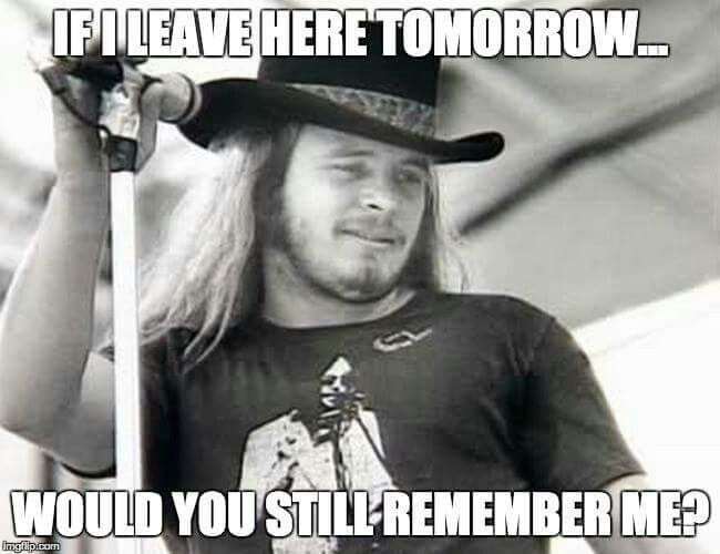 my lifetime favorite Band.. barefoot  Ronnie Van Zant