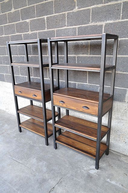 BookShelves1 | 65 H x 30x 15 steel and stained cypress book … | Flickr
