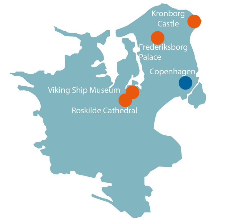 Grand Day Trip   See all the big attractions in one day  Kronborg Castle in Elsinore (UNESCO World Heritage Site) Roskilde Cathedral (UNESCO World Heritage Site) Frederiksborg Palace in Hillerød The Viking Ship Museum in Roskilde