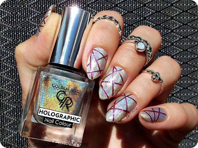 GOLDEN ROSE Holographic  Nail Colour nr 01