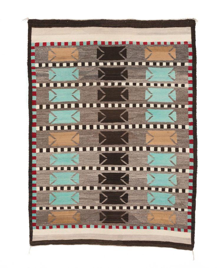 Saddle Blanket - Double / Bistie Style Navajo Weaving