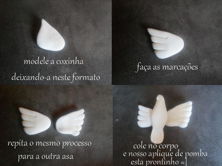 Atelie Fazendo a Arte - Peças artesanais feitas com carinho para você: passo a passo pomba branca (divino espirito santo)