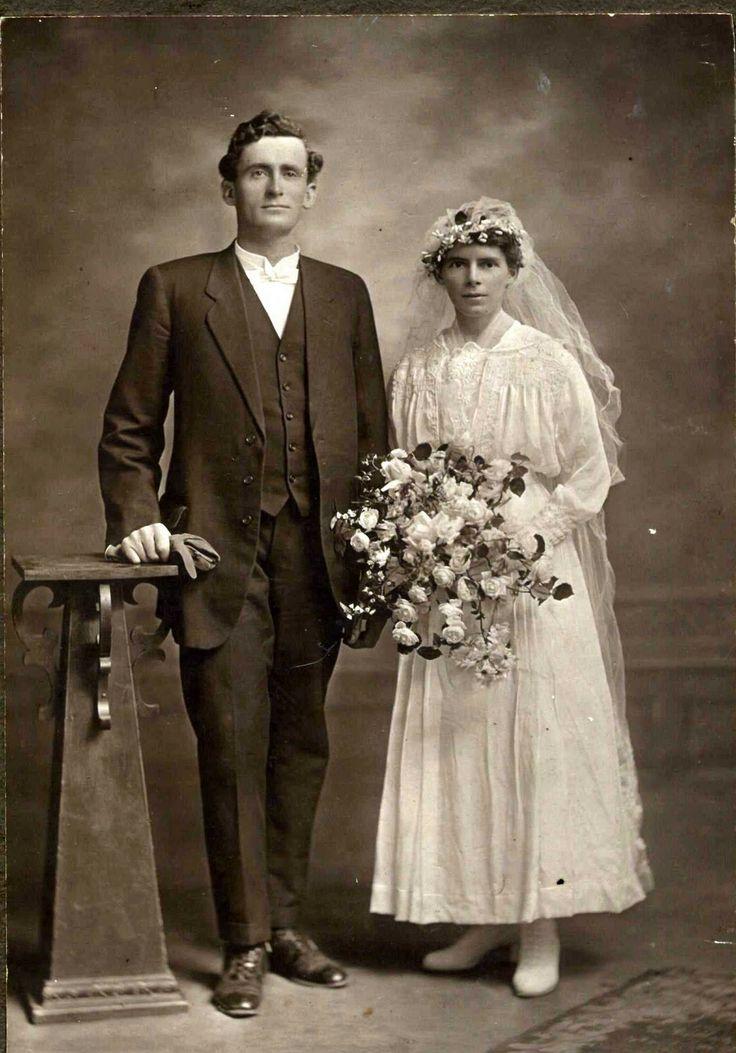 1910s Wedding couple.