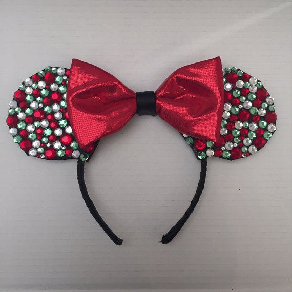 Hey, I found this really awesome Etsy listing at https://www.etsy.com/listing/215628629/holiday-themed-mickey-mouse-ears