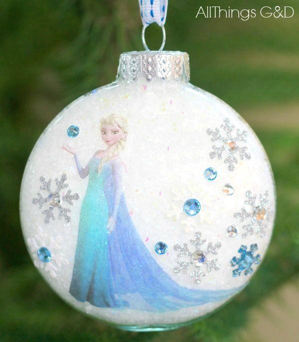 Princess Elsa Ornament - Surprise the Elsa lover on your Christmas list with this beautiful, handmade Elsa ornament - it's easier than you think! #OriginalOrnam…