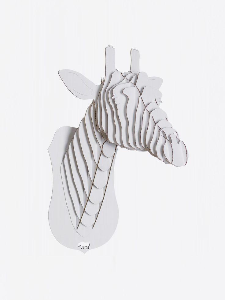 CARDBOARD SAFARI , Juliette Giraffe Bust Beyaz Karton Zürafa Kafası Large #shopigo#shopigono17#availableonsite#decoration#design#style#fashion#lifestyle