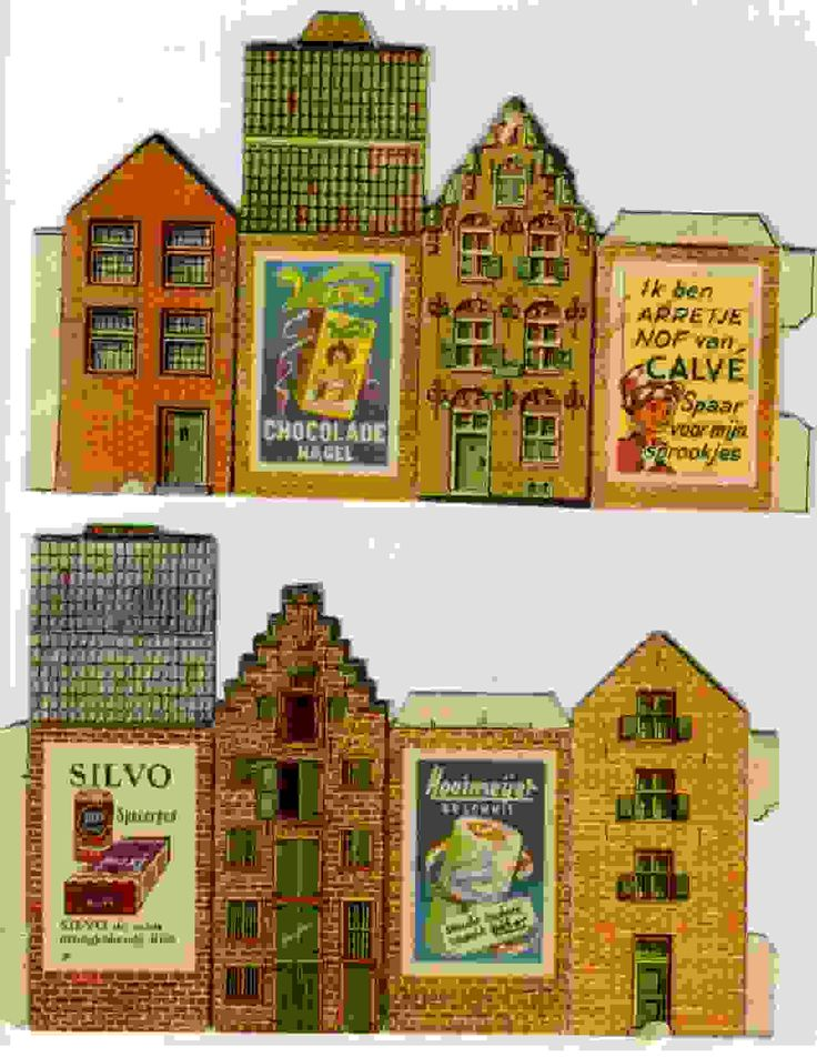 Printable Miniature Dutch Houses - a little bit of Holland in your own home...