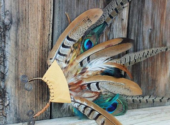 Beautiful and Stunning Earth Tones Feather by WildPeopleFreeSpirit