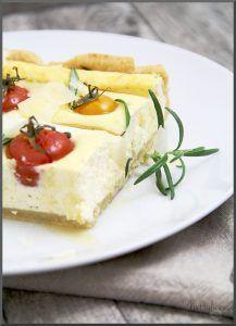 Spargeltarte mit Ricotta und Tomaten
