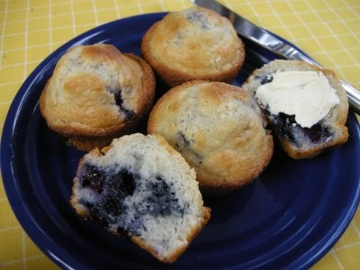 Ingredients        2 1/4 Cups Baking Mix (such as Pioneer Brand or Bisquick, etc)      1 heaping cup frozen blueberries (not thawed, can use fresh)      1 Cup milk      1/3 Cup sugar*      1 Egg      2 Tablespoons vegetable oil