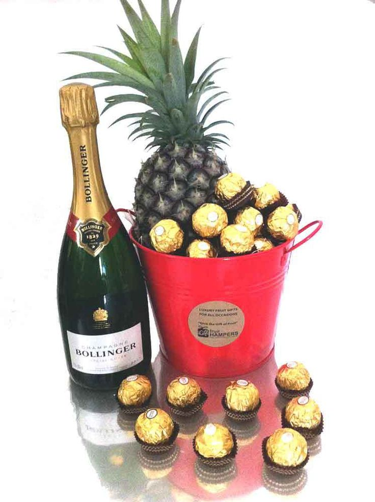 igiftFRUITHAMPERS.com.au - Bollinger Champagne Gift Bucket   Chocolate   Pineapple - Free Delivery, $132.00 (http://igiftfruithampers.com.au/bollinger-champagne-gift-bucket-chocolate-pineapple-free-delivery/)  The all occasions gifts perfect for Christmas, Birthday, Anniversary, Congratulations, Get Well, I Love You, Valentines or just because I'm thinking about you  http://igiftfruithampers.com.au/gift-buckets/  #giftbuckets #gifthampers #giftbasket #gifthamper #corporategifts…