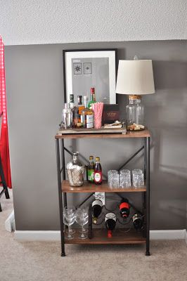 Loving this bar cart! Of course it's not feasible with the minis running around.