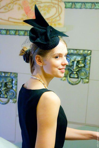 Шляпы ручной работы. Коктейльная шляпка «птица». Наталия Эдис. Ярмарка Мастеров. Коктейльная шляпа, черная коктейльная шляпка