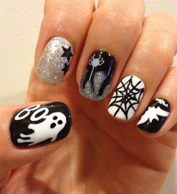 22-halloween-nail-art - 47 Best Halloween Nails Images On Pinterest Nail Art Ideas