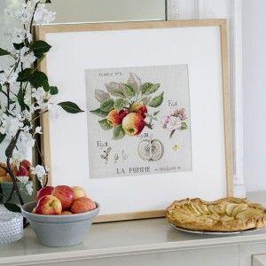Aïda : Étude aux pommes (maxi-grille) à broder au point de croix