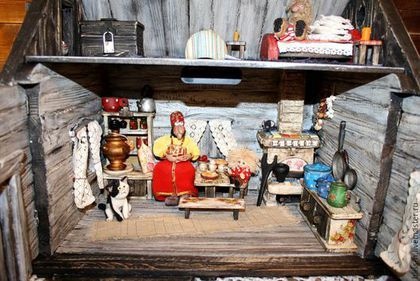 "Кукольный дом ручной работы. Кукольный дом ""Домовенок Кузя"". Наталья Bliss. Ярмарка Мастеров. Кукольный домик, баба-яга"