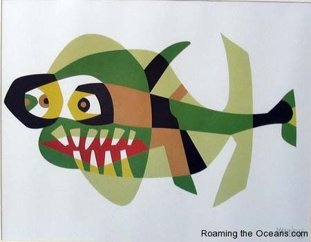 Fish painting by Cesar Manrique.