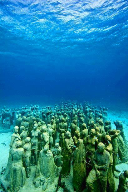 Underwater Museum, Cancun. I really hope it's not too deep to snorkel and still see it.