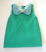 Bow collar a-line dress