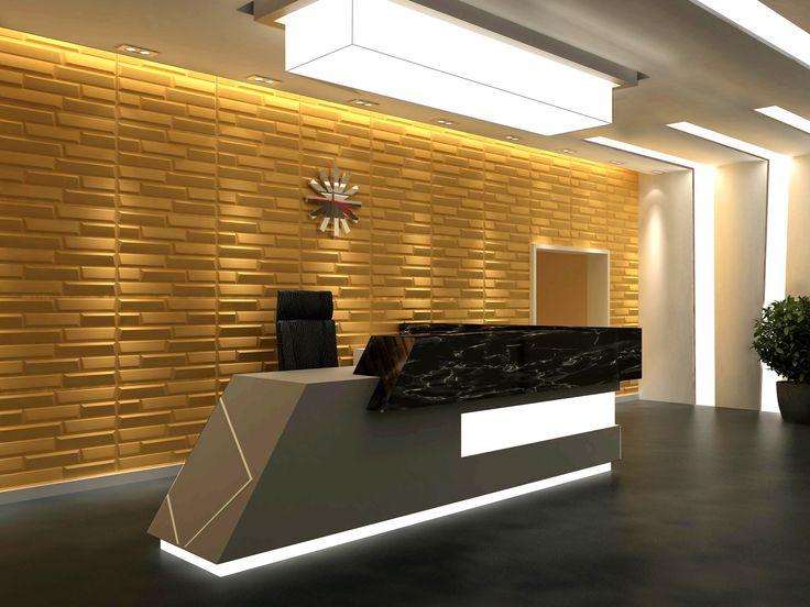 Aulatilat #aula #lobby # 3Dpaneelit #tehosteseinä