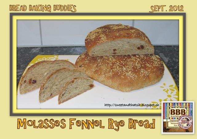 Sweet and That's it: Molasses Fennel Rye Bread - Pane di Segale con Melassa e Semi di Finocchio