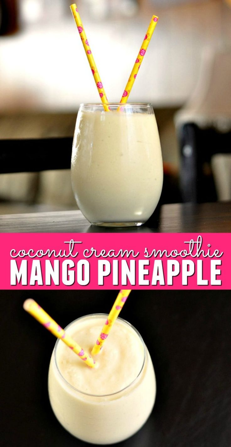 You're looking for a decadently refreshing smoothie to make on a hot day? This Mango Pineapple Coconut Cream Smoothie recipe delivers exactly what you need!