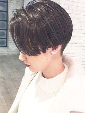【ALBUM渋谷】NOBU_ダークアッシュ×マッシュショート_ba17093