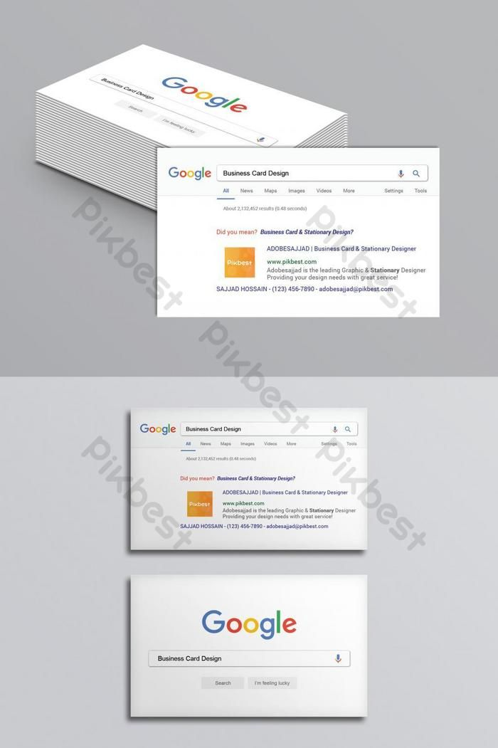 Over 1 Million Creative Templates By Pikbest Google Business Card Business Cards Creative Minimalist Business Cards