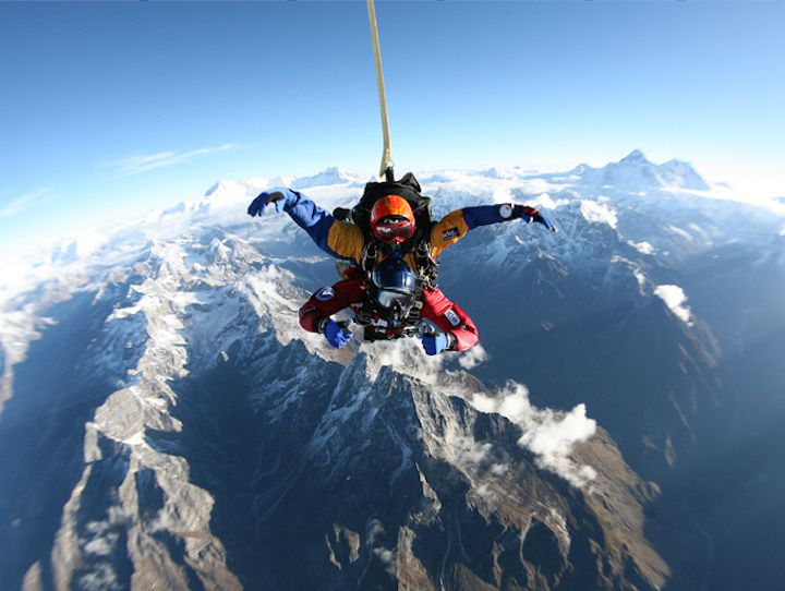 Jump off a plane and skydive 29,000 feet above Mount Everest (the highest skydive in the world).