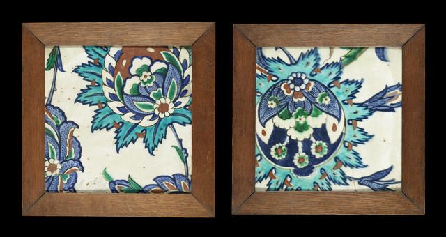 Two Iznik polychrome pottery Tiles Turkey, circa 1590