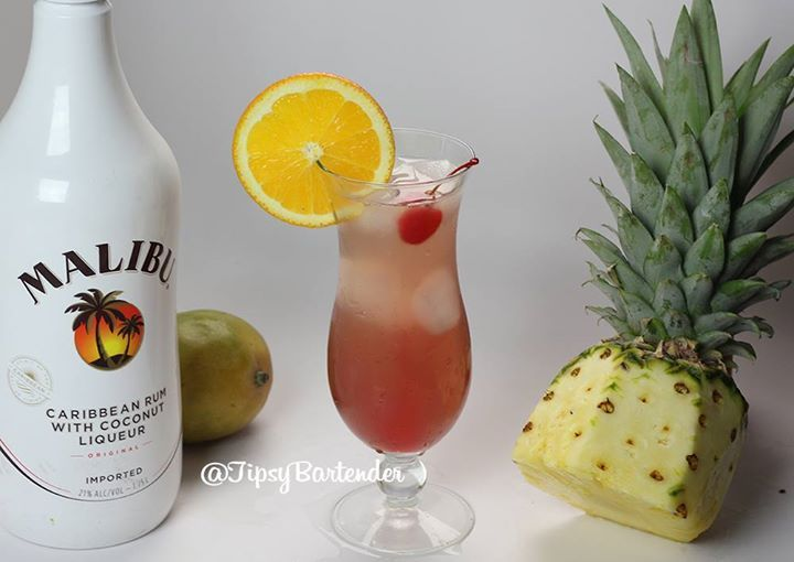 The Hawaiian Sex on the Beach! Perfect for a warm summer day at the beach! For the recipe, visit us here! www.TipsyBartender.com Check us out on Google+ https://plus.google.com/+TipsyBartender