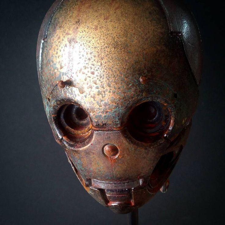 Robot oxidado de La Mathomería. Tomàs Barceló
