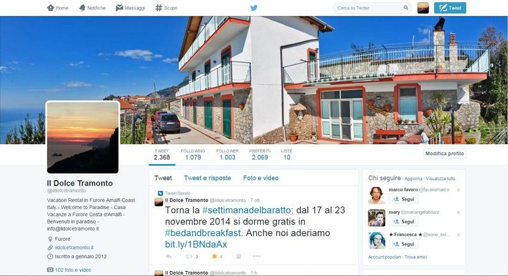 More than 1000 followers on #Twitter And you, are you still following us? >> www.twitter.com/ildolcetramonto