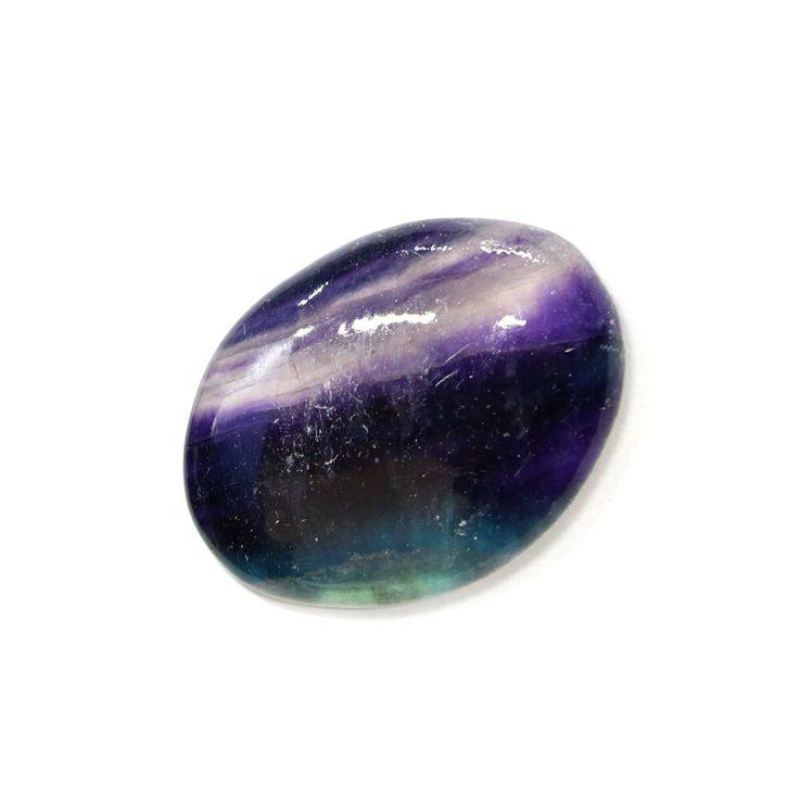 Fluorite Worry Stone Slab - Thumb Stone - Palm Stone - Metaphysical - Chakra - (RK46B8b-02) by RockParadise on Etsy https://www.etsy.com/listing/264881357/fluorite-worry-stone-slab-thumb-stone