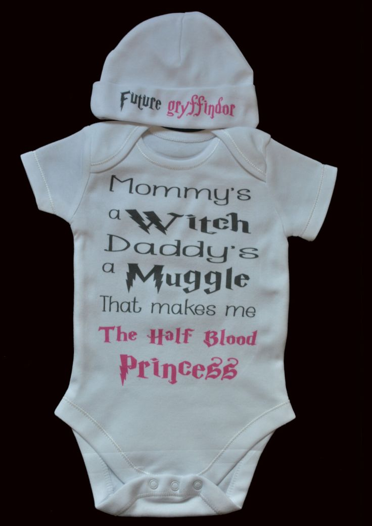 Future Gryffindor Harry Potter Baby Mommy's a Witch Daddy's a Muggle Baby Dressing Up Outfit-Harry Potter Onesie & Matching Hat Retrostate by retrostate on Etsy https://www.etsy.com/listing/209847561/future-gryffindor-harry-potter-baby