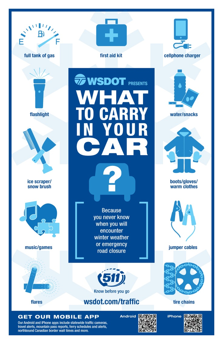 Winter safety tips for truck drivers - What To Carry In Your Car In Case Of An Emergency From The Washington Winter Tipsthe