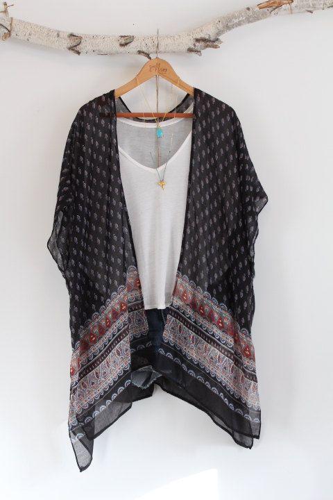 Bohemian kimono Indian inspired Block print by NORTHBOHEME