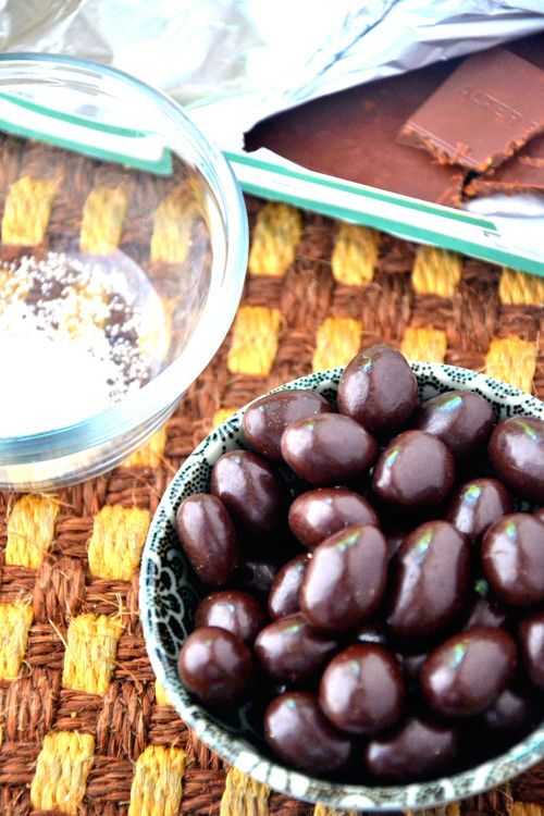 Dark Chocolate Covered Almonds | TheHealthyApple.com