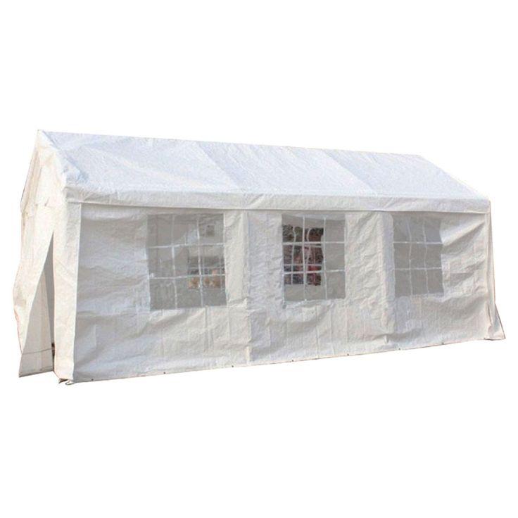 MCombo White 10x20 ft Heavy Duty Carport Party Tent Canopy Car Shelter (10'x20' heavy Carport Canopy Tent(White)), Size 10 x 20 (Fabric) #6053-1020W