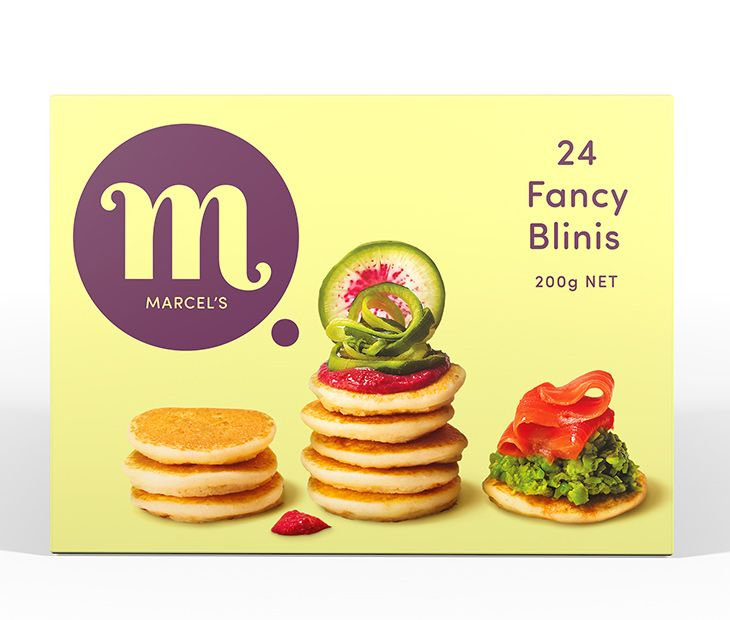 Marcel's Fancy Blinis are a savoury mini pancake. Perfect if you're hungry for a bite, hosting guests, or catering for a large gathering.   Individually frozen. Just thaw out what you need!  Proudly NZ Made.