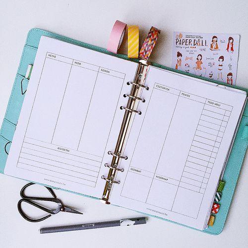 Nyomtatható tervezőnaptár lapok INGYEN!