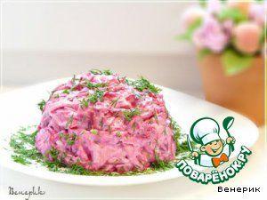 Очень простой салат из сыра, яиц и свеклы - кулинарный рецепт