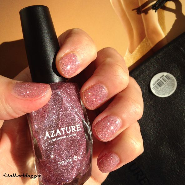 Azature Nail Polish In Azature Pink & Azature Black | talkerblogger