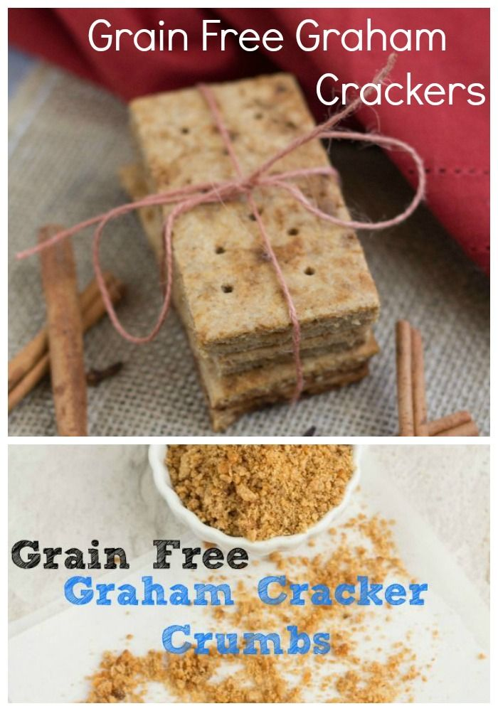 Grain Free Graham Crackers and Graham Cracker Crumbs #grainfree #lowcarb