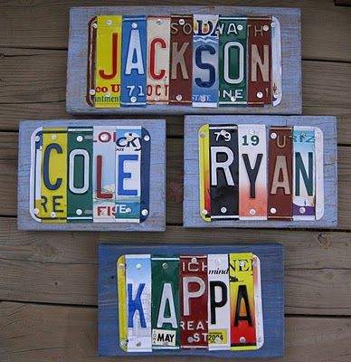 license plate craft ideas 25 best ideas about license plate on 4869