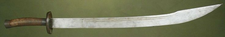 Ox-Tail Dao Sword Dated: circa 17th century (Qing Dynasty) Culture: Chinese Medium: steel, wood, brass