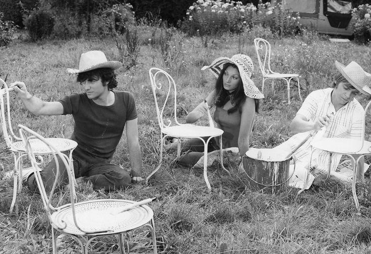 """Francis Huster, Claire Vernet e Jacques Spiesser in """"Faustine et le bel été"""" (1972) di Nina Companeez (""""Collection Gérard Troussier"""" / Cinemagence, 1964-1994)"""