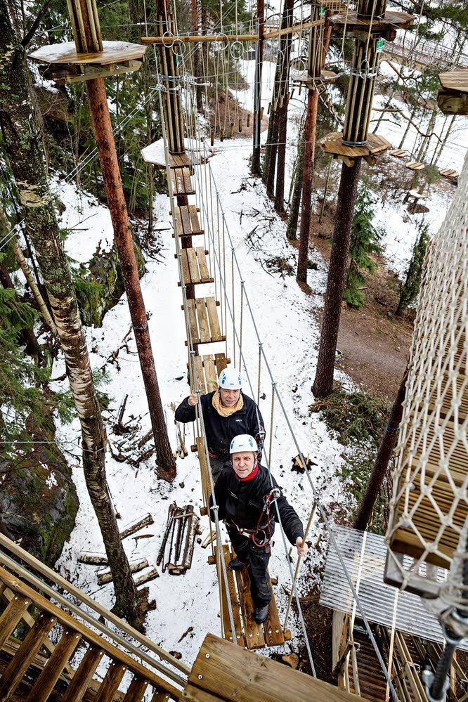 Seikkailupuistobuumi vyöryi pk-seudullekin – ensi kesänä liikutaan korkeuksissa | Vantaan Sanomat
