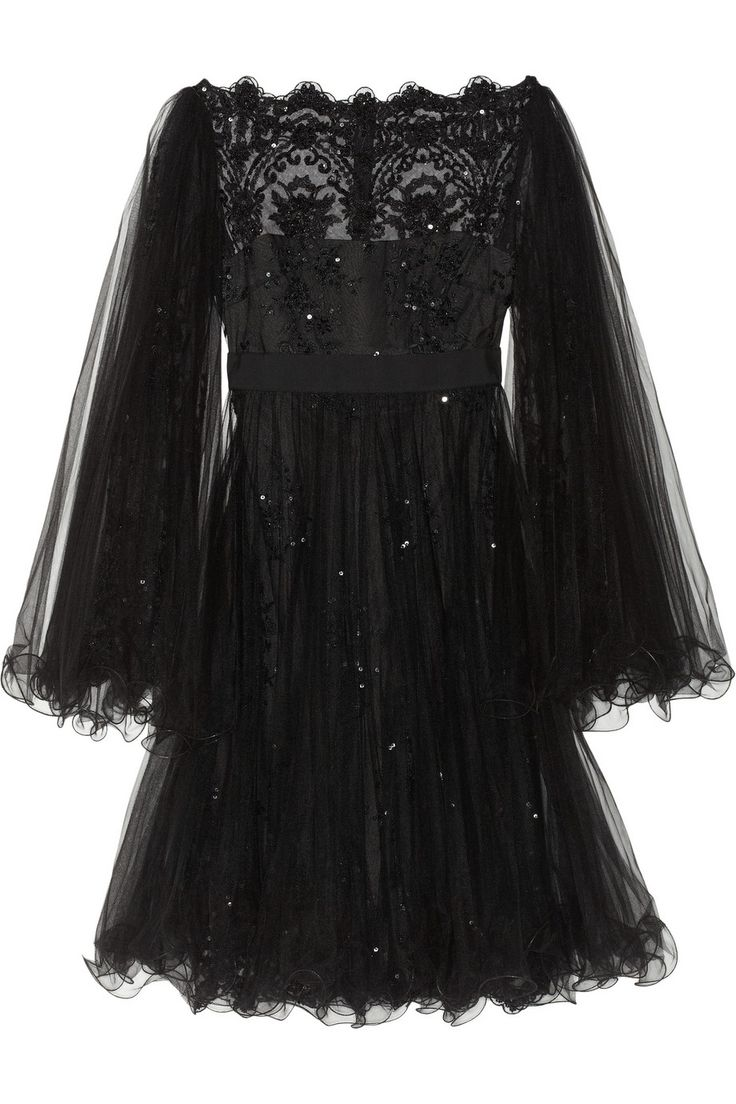 Marchesa | Embellished tulle dress | NET-A-PORTER.COM